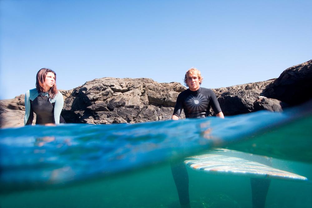 Surfing Constantine Beach Cornwall
