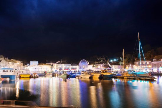 Padstow Harbour Christmas in Cornwall