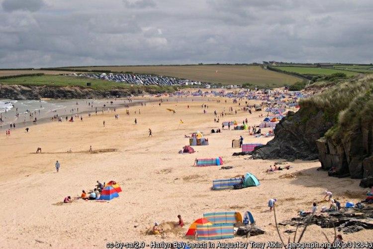 Harlyn Beach in Cornwall